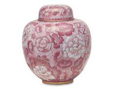 Pink Cloisonne Ginger Jar