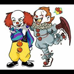 Pennywise old clown with new Pennywise Pennywise 1990, Pennywise The Dancing Clown, Scary Movies, Horror Movies, Le Clown, Funny Horror, Send In The Clowns, Scary Art, Horror Icons