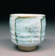 Handmade Stoneware Yunomi Tea Cup Glazed with Alberta Slip and Nuka Glaze Tea Ceremonyby: D. Michael Coffee