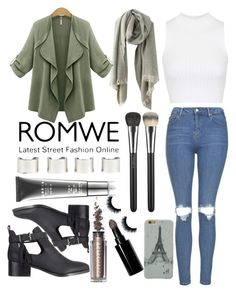 """#37 Grey Scarf -RomWe"" by bbatwomann ❤ liked on Polyvore featuring Topshop, SPURR, Maison Margiela, LORAC, MAC Cosmetics and Bobbi Brown Cosmetics"