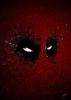 Deadpool splatter art