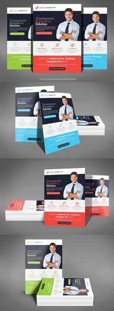Corporate Flyer Templates 6PSD   #26 Flyer Template, Business   Business  Pamphlet Templates  Business Pamphlet Templates