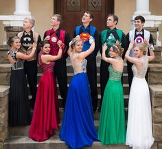People Are Loving These Teens And Their Perfectly-Coordinated Superhero Prom Outfits Homecoming Dresses, Bridesmaid Dresses, Wedding Dresses, Homecoming Outfits For Guys, After Prom Outfit, Prom For Guys, Homecoming Themes, Bridesmaids, Prom Goals