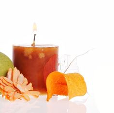 JenSan Cinnamon Orange Pillar Candle: The tangy smell of a juicy orange combined with spicy cinnamon results in this great smelling bouquet.