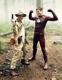 Flash and Julian/ Grant Gustin and Tom Felton
