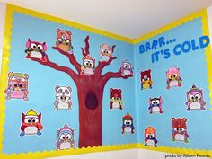 Your students will enjoy writing on these cute owls. Hang them on your classroom door or bulletin board for a fun and unique winter decoration. By Pink Cat Studio.