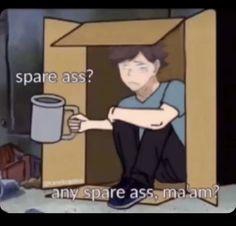 Memes Lol, Cute Memes, Stupid Memes, Funny Memes, Haikyuu Funny, Haikyuu Fanart, Funny Anime Pics, Haikyuu Wallpaper, Anime Stickers