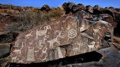 Coso Range, just east of the Sierra Nevada, California, is the largest concentration of petroglyphs in the Western Hemisphere.