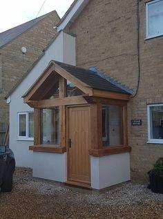 Rich enclosed porch design a fantastic read Porch Uk, Front Door Porch, Front Porch Design, Porch Roof, House With Porch, House Front, Bungalows, Porch Kits, Porch Ideas Uk