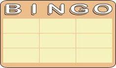 Resultado de imagem para tabela bingo