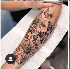Half Sleeve Tattoos Forearm, Unique Half Sleeve Tattoos, Outer Forearm Tattoo, Forarm Tattoos, Elbow Tattoos, Dainty Tattoos, Baby Tattoos, Trendy Tattoos, Life Tattoos