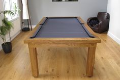 Modern Pool Table Range in Oak #6 with a Hainsworth Elite Pro Charcoal Cloth