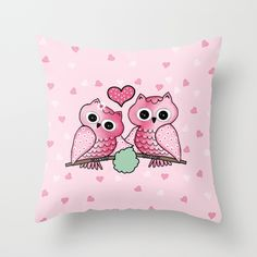 owls Throw Pillow http://society6.com/product/owls-cx0_pillow#25=193&18=126