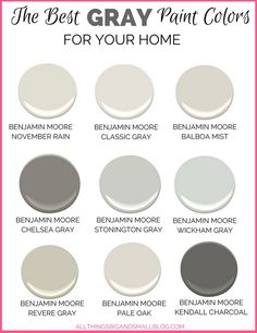 Gray Paint Colors for Your Home    Best Benjamin Moore Gray Paint Color Overview   Drama  Gray and Black. Great Neutral Paint Colors Benjamin Moore. Home Design Ideas