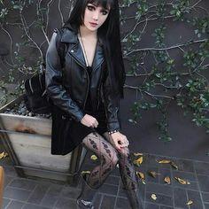 kina shen at DuckDuckGo Dark Fashion, Emo Fashion, Gothic Fashion, Fashion Models, Goth Beauty, Dark Beauty, Alternative Outfits, Alternative Fashion, Kina Shen