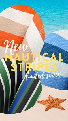 Nautical Stripes leather sheets, ready to bring a vintage beach vibe to your next leather craft. Available in and only at The Leather Guy Leather Gifts, Leather Craft, Diy Leather Projects, Nautical Stripes, Major Holidays, Leather Sheets, Craft Night, Leather Pieces, Easy Crafts