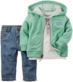 Carter's Henley Cardigan (Baby) - Free Shipping