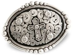 Nocona Floral Cross Belt Buckle available at #Sheplers