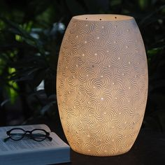 Ariel powder stone oval standing lamp