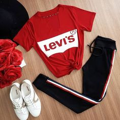 37 Best Casual Outfits for Teens - Adidas leggings outfit - Casual Outfits For Teens, Teenage Outfits, Teen Fashion Outfits, Fashion Mode, Sporty Outfits, Mode Outfits, Trendy Outfits, Fall Outfits, Summer Outfits