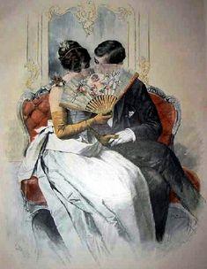 Behind The Fan, c.1900
