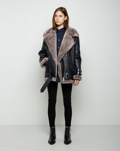 Acne Studios Velocite Shearling Jacket | La Garçonne