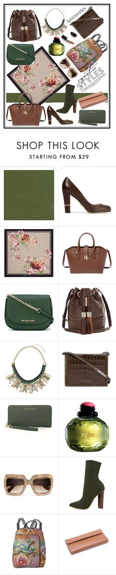 """""""GREEN AND BROWN!!!"""" by kskafida ❤ liked on Polyvore featuring Élitis, Sergio Rossi, Gucci, Lauren Ralph Lauren, MICHAEL Michael Kors, See by Chloé, Dorothy Perkins, Victoria Beckham, Yves Saint Laurent and Steve Madden"""
