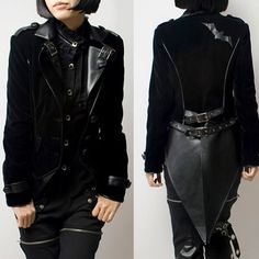 Goth fashion for men and women | Cyber Goth Punk Rave Vampire Clothing Black Jacket Men Women