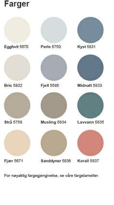 Butinox Bris 5832 og sanddyner 5836 Color Combinations, Color Schemes, Strand, Paint Colors, Eyeshadow, Diy, Beauty, Colors, Eye Shadow