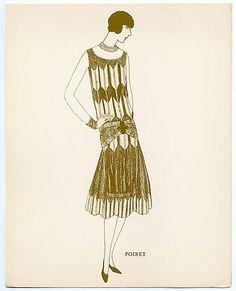 Poiret dress, 1925. Love me some low waisted, short hair, flapper goodness.
