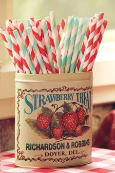 Stripy straws