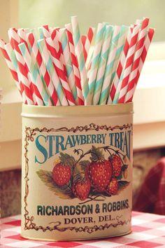 Stripy straws