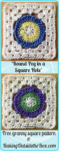 Round Peg in a Square Hole ~ free pattern
