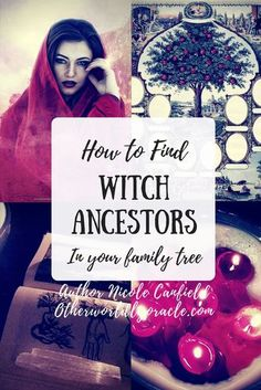 Ever wondered if you have any witch ancestors? Find out how to research and gath… Ever wondered if you have any witch ancestors? Find out how to research and gather data to pinpoint who your witch ancestors were in your family tree. Witch Alter, Magick Spells, Witchcraft Books, Witchcraft Meaning, Witchcraft History, Wiccan Books, Magick Book, Green Witchcraft, Witch Names