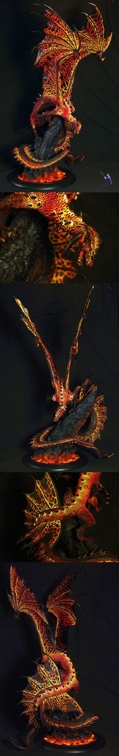 Charsaug the Magma Dragon, by odinsgrandson.  Absolutely amazing.  http://www.coolminiornot.com/347345