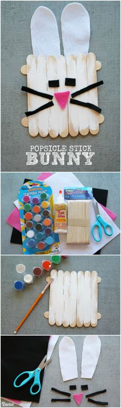 Create this popsicle stick bunny craft for a last minute spring decoration or use for a great kid's craft for those attending your Easter celebrations.