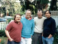 Andy Hertzfeld, Bill Atkinson, Bud Tribble, Steve Jobs.
