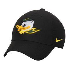 Oregon Ducks Nike Heritage 86 Authentic Adjustable Performance Hat - Black 14d0f2723ac4