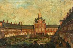 Hofje van Nieuwkoop (Almshouses)  Mijn overgrootmoeder van vaders zijde kwam uit Nieuwkoop. Ze woonden niet in de hofjes zoals op dit schilderij.