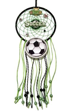 Soccer Dreaming Handmade Dream Catcher by PeyoteWayDesign on Etsy Crochet Dreamcatcher Pattern, Fun Ideas, Party Ideas, Dream Catchers, Princess Party, Soccer, Dreams, Unique Jewelry, Handmade Gifts