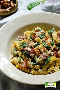 Fusilli, Rigatoni, Bacon, Food And Drink, Vegan, Ethnic Recipes, Food, Vegans, Pork Belly