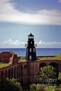 Fort Jefferson lighthouse in FL
