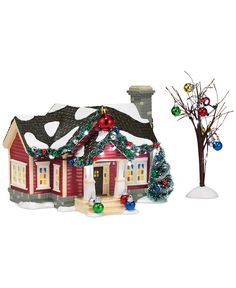 Department 56 Snow Village The Ornament House Collectible Figurine - Holiday Lane - For The Home - Macy's