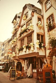 Christmas in Strasbourg, France. Winter in beautiful Alsace.