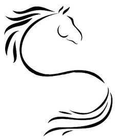 Semicolon horse tattoo