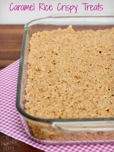 Caramel Rice Crispy Treats {…I dare you to try and only eat one}