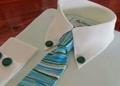 Kiwi Cakes: Tutorial Tuesday - Folded Mens Shirt Cake
