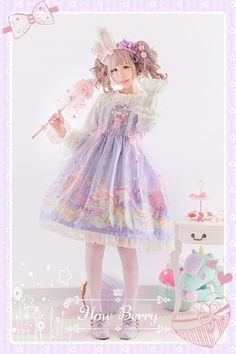 My lolita dress Pastel Goth Fashion, Kawaii Fashion, Cute Fashion, Dolly Fashion, Lolita Fashion, Girl Fashion, Mode Lolita, Lolita Style, Cute Dresses