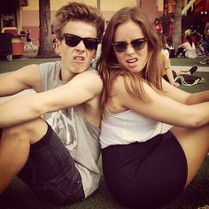 Joe Sugg and Tanya Burr.  They both make me cry... with laughter :) <3
