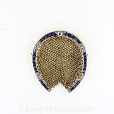 Antique Mesh Horseshoe Coin Purse - Vintage Jewelry